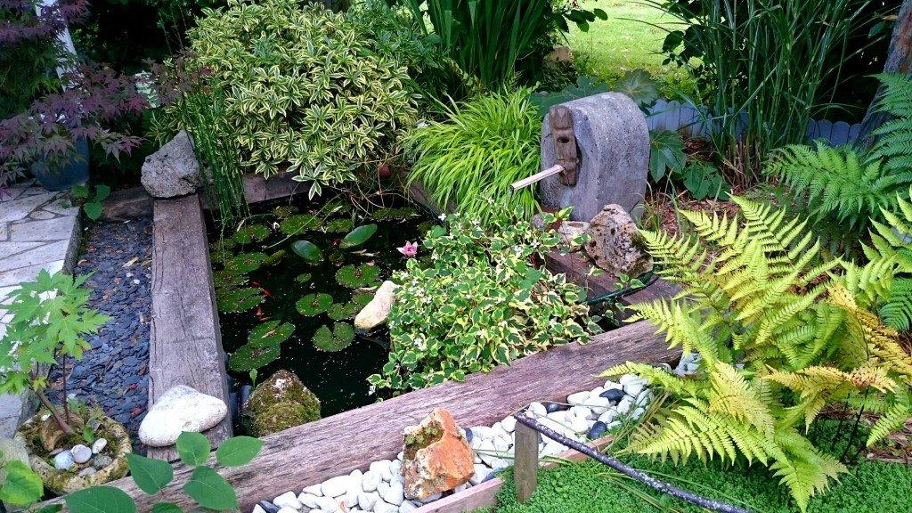 Cr ation d un bassin zen jardin de luchane for Creation bassin de jardin