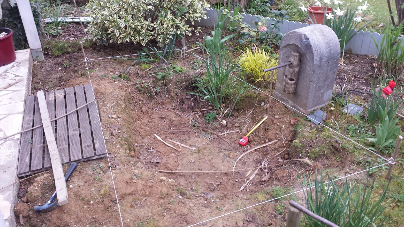 Cr ation d un bassin zen jardin de luchane - Bassin exterieur zen metz ...
