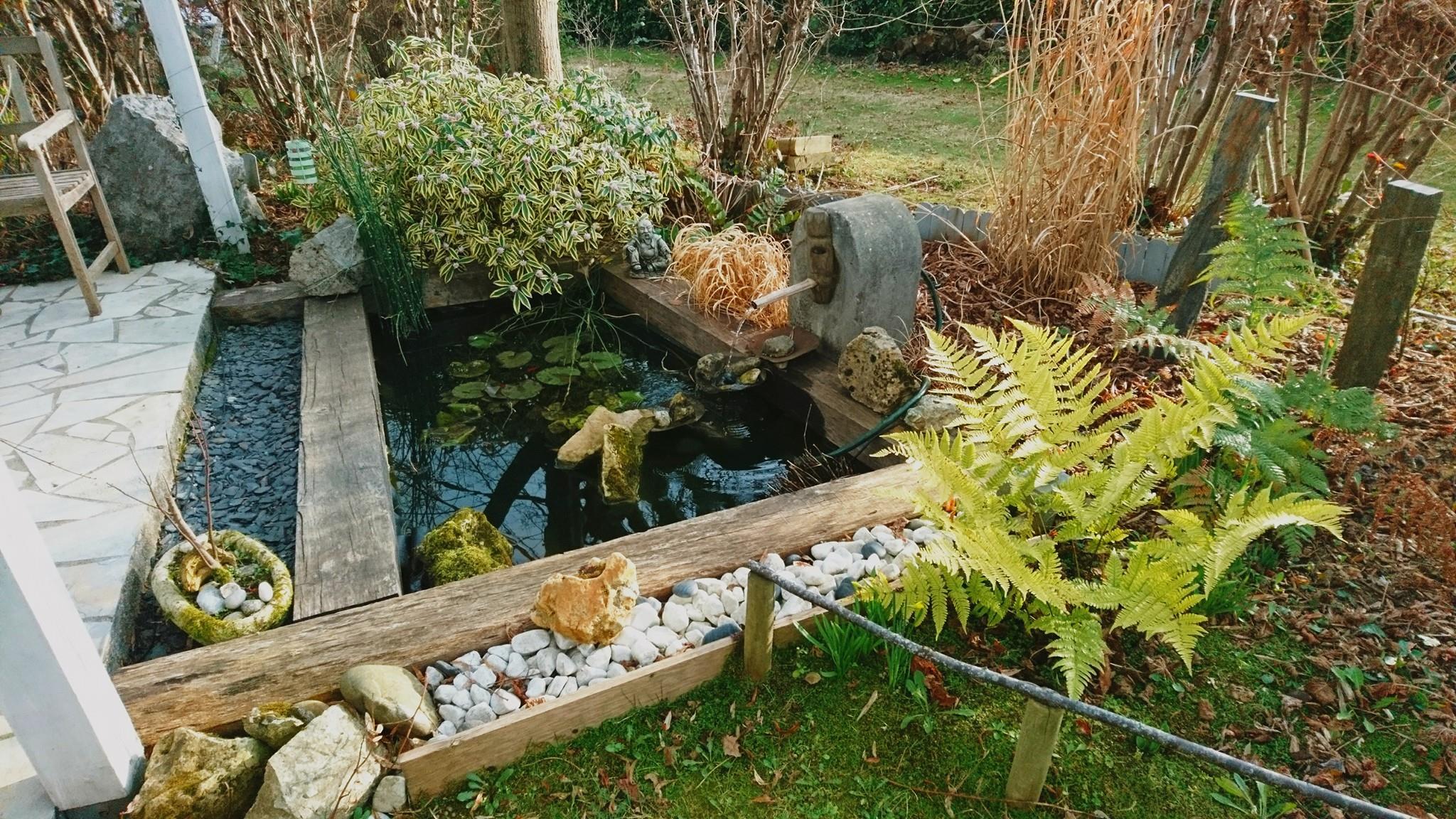 Hiver jardin de luchane - Bassin balcon terrasse le mans ...