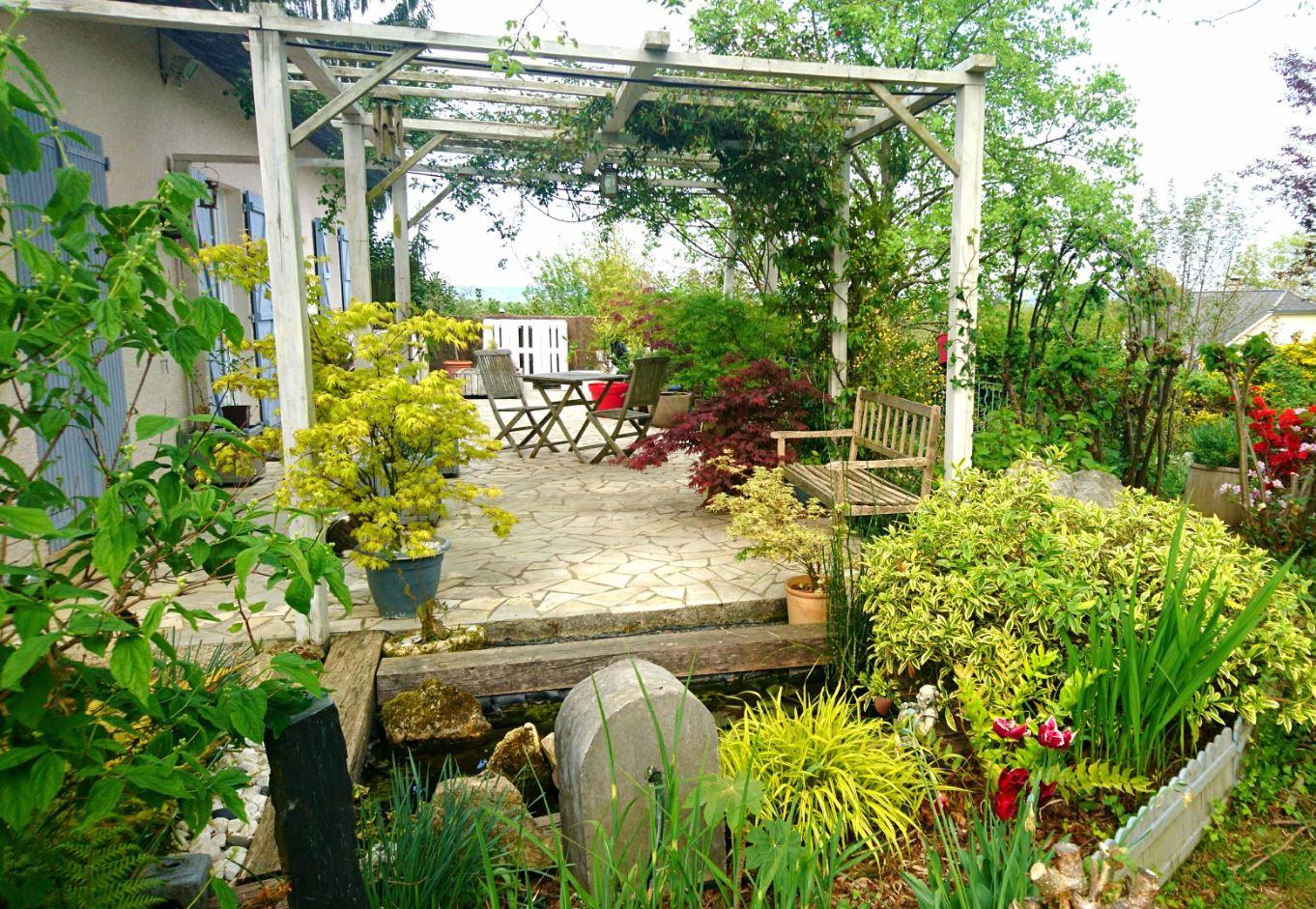 Mes r alisation jardin de luchane terrasse jardin de for Realisation jardin