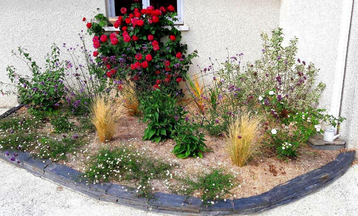 Mes r alisations le jardin de pierre et marie lescar 64 for Massif pierre jardin